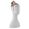 Olga Berg Taylor Floral Headband millinery in Rose Gold colourway showing side view