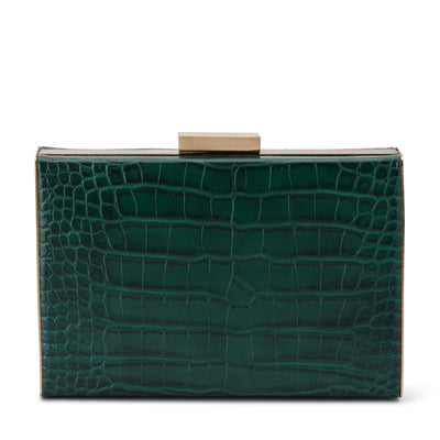 Olga Berg CATERINA Croc Framed Bag