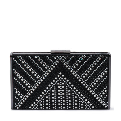 Olga Berg DEMI Geometric Hotfix Clutch