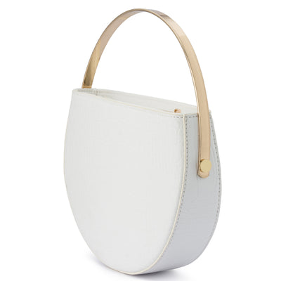 Olga Berg RILEY Croc Round Top Handle Bag
