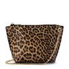 Olga Berg SANTANA Leopard Print Zip Top Bag