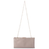 Olga Berg Liz Soft Framed Clutch evening bag in Natural colourway showing chain view