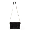 Olga Berg Hope Velvet Shoulder Bag evening bag in Black colourway showing front view