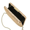 Olga Berg ARIEL Metallic Woven Clutch Bag