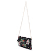Olga Berg Olivia Black Printed Foldover Clutch Side View