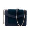 MONTANA Suede and Pebble Shoulder Bag Olga Berg Bag