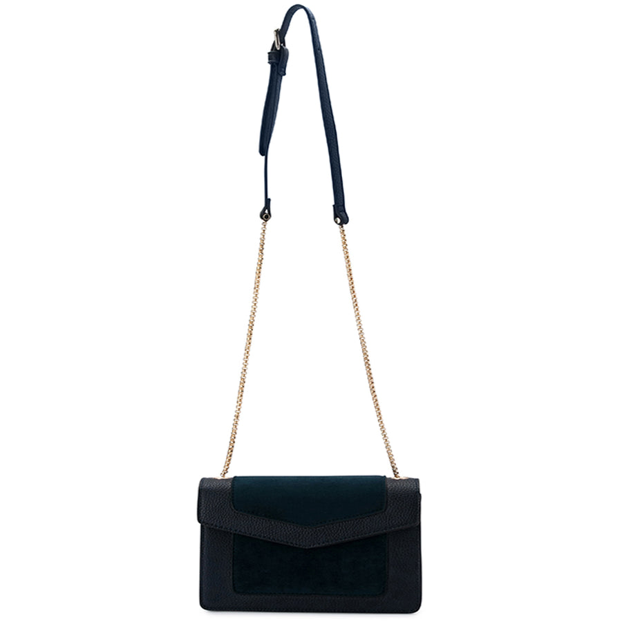 MONTANA Suede and Pebble Shoulder Bag