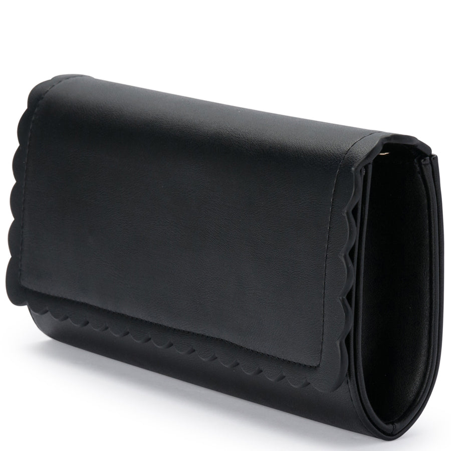 KATIE Scalloped Edge Clutch Olga Berg Bag