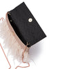 MIA Glitter Feather Trim Clutch-Bag-Olga Berg