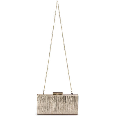 LUCINDA Metallic Gathered Box Clutch-Bag-Olga Berg