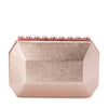 Olga Berg TABITHA Metallic Crystal Lock Clutch Bag