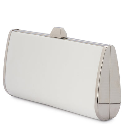 Olga Berg XANDER Saffiano Tear Drop Clutch Bag