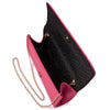 Olga Berg ANABELLE Saffiano Fold Over Clutch Bag
