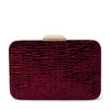 Olga Berg TAMARA Textured Embossed Velvet Clutch
