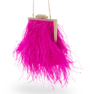 OZZY Feather Framed Bag