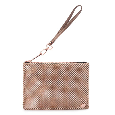 VIVIAN Ball Mesh Wristlet Rose Gold Olga Berg
