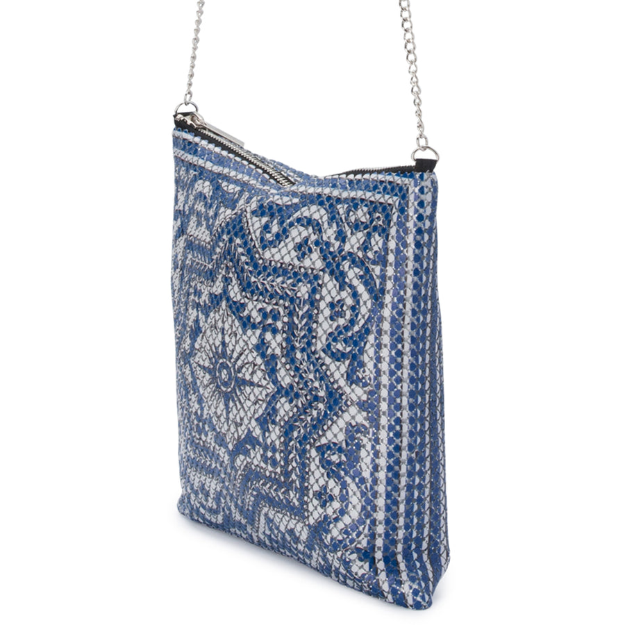 SENITA Printed Mesh Shoulder Bag Olga Berg Bag