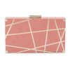 KENZIE Metal Striped Clutch