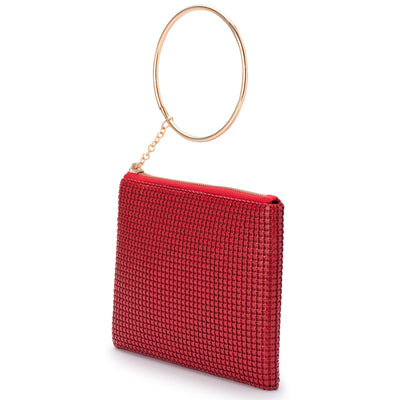 STARBRIGHT Star Mesh Wristlet Clutch Olga Berg Bag