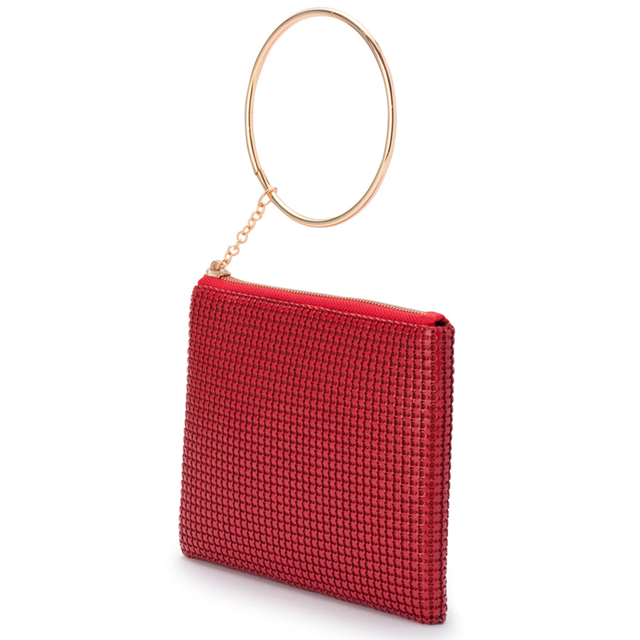 STARBRIGHT Star Mesh Wristlet Clutch