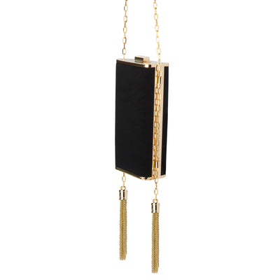 YVES Satin Tassel Clutch Olga Berg Bag