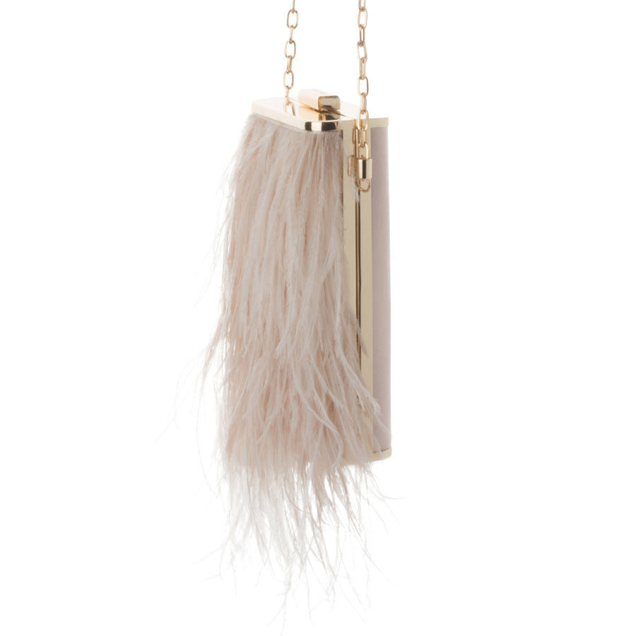 TONIA Feather Fringed Shoulder Bag