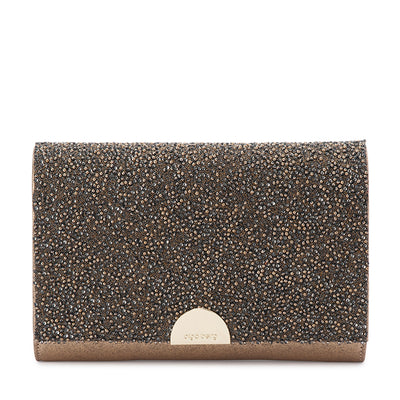 Olga Berg DOLCE Embellished Fold Over Clutch Bag
