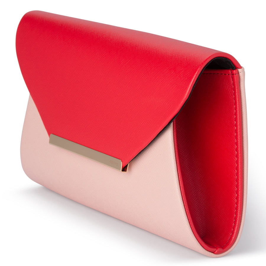 AUDRY Two Tone Fold Over Clutch