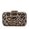 KAELA Leopard Sequin Clutch