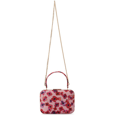 Olga Berg KAELY Floral Satin Top Handle Bag
