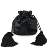 Olga Berg KHLOE Flat Mesh Drawstring Shoulder Bag