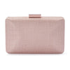Olga Berg | Holly Sinamay Pod | Blush | Evening Bag