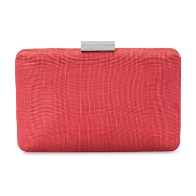 Olga Berg | Holly Sinamay Pod | Coral | Evening Bag
