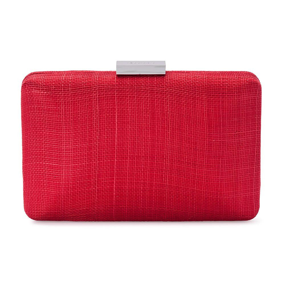 11d7800e0 Olga Berg | Holly Sinamay Pod | Red | Evening Bag