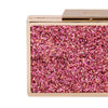 Olga Berg Madi Glitter Box Clutch evening bag in Pink colourway showing detailed close up