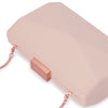 Jade Angular Saffiano Blush Clutch Detail View