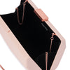Jade Angular Saffiano Blush Clutch Internal View