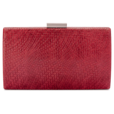 BROOKE Woven Embossed Clutch