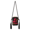 Olga Berg Eve Embroidered Shoulder Bag evening bag in Black colourway showing front view