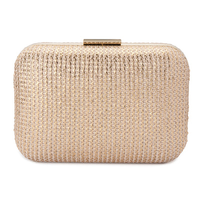 LANA Metallic Knit Clutch