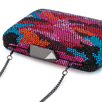 Natalie Camo Hot Fix Clutch Multi Colour Detail View