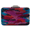 Natalie Camo Hot Fix Clutch Multi Colour Front View