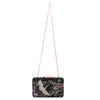 Katia Raised Embroidery Black Clutch Chain View