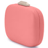 Mila Rounded Simple Coral Clutch Side View