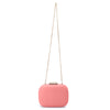 Mila Rounded Simple Coral Clutch Chain View