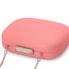 Mila Rounded Simple Coral Clutch Detail View