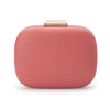 Mila Rounded Simple Coral Clutch Front View