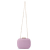 Mila Rounded Simple Lilac Clutch Chain View