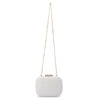 Mila Rounded Simple White Clutch Chain View