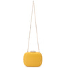 Mila Rounded Simple Yellow Clutch Chain View